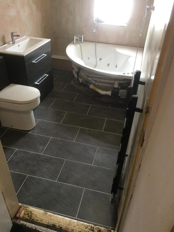 Bathroom Floor Tiling in Derby