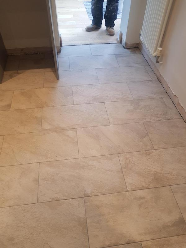 kitchen floor tiled in Kirkby