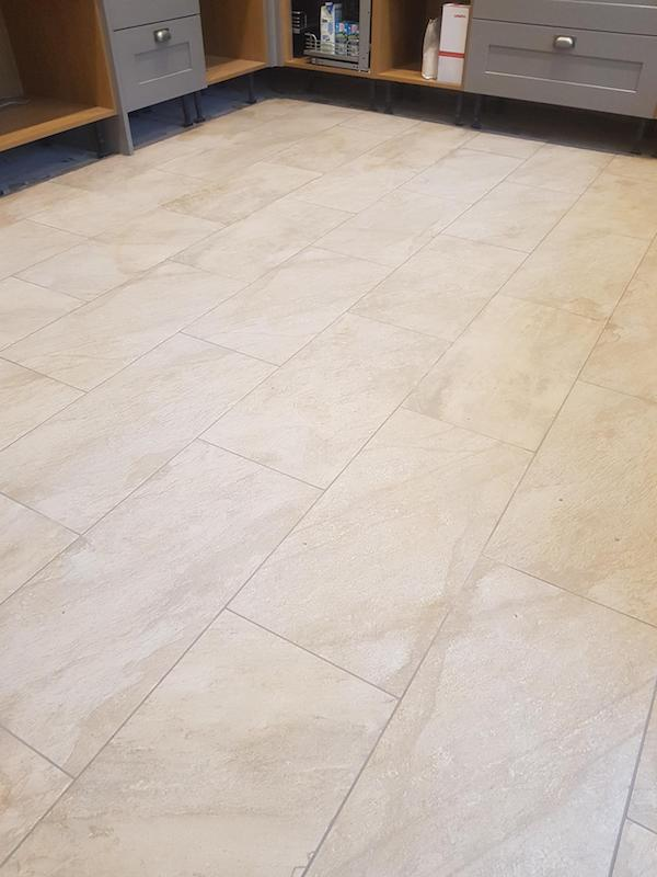 kitchen floor tiles installed in Kirkby