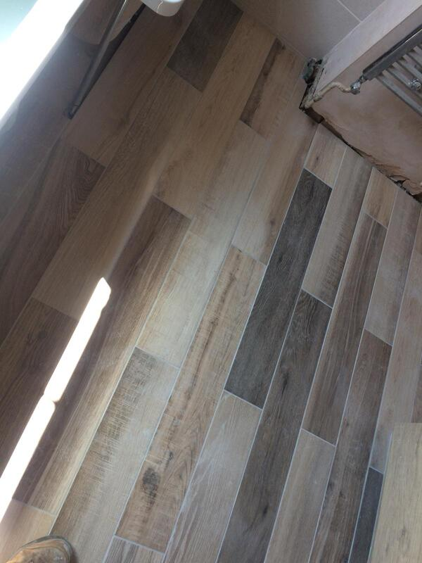 plank wood effect tiling